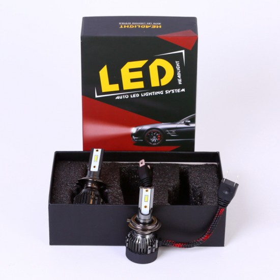 AH Auto LED Headlight Bulbs Conversion Kit H7,CREE Chips,45W,6000K Extremely Bright All-in-One Conversion Kit